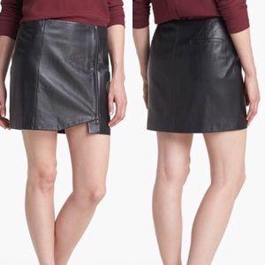 Leith Leather Wrap Skirt